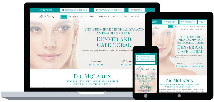 Skin Secrets Website