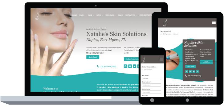 Natalie's Skin Solutions Website