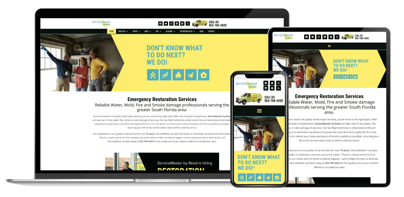 ServiceMaster Website Design