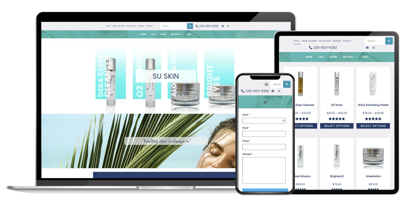 SkinCare Web Design